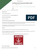 Internship at ONGC Delhi