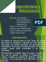 Nebulización y Sus Características