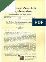 Sándor Ferenczi - Das Problem Der Beendigung Der Analyse (1927)