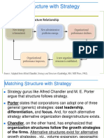 Matching Structure With Strategy