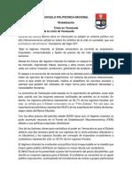 Análisis Económico de La Crisis de Venezuela
