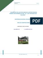 Diagnostico de Las Patologias en La Estructura Del Paraboloide Hiperbolico DAE-FIC-UNI y Propuesta de Solucion
