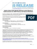 Empire State Pride Agenda Releases Latest Round of Endorsements for 2010 Primary and General Elections