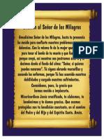 Oracion Senior de Los Milagros