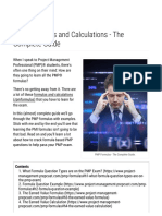 PMP Formulas and Calculations