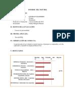 Informe del BFQ