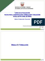 Pautas Del Mef Para Identificacion Formulacion y Evaluacion
