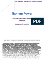 Thorium Power Information