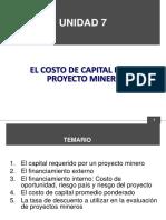UNIDAD 7 EL COSTO DEL CAPITAL PARA UN PROYECTO.ppt