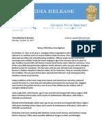 Lexington Police Release