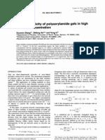 Rubber Elasticity of Polyacrylamide Gels