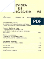 002 El Amor a Si Mismo. Una Lectura de Monologos de Schleiermacher LUIS GUERRERO