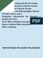Apresentação Projeto de Pesquisa - Lab. Projeto Pesq. Análise de Texto 2016.2 (Leandro Maia)