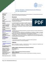 Diplomado en Gestion y Administracion de Oficina y Proyectos de Arquitectura