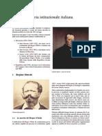 Storia Istituzionale Italiana