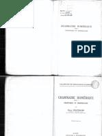 Chantraine, Pierre Grammaire homérique - Tome I, Phonétique et morphologie