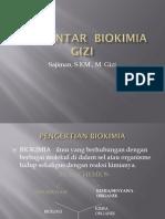 Pengantar Biokimia Gizi