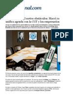 Reforma Laboral Sortea Obstáculos, Macri Ya Unifica Agenda Con La CGT y Los Empresarios-1