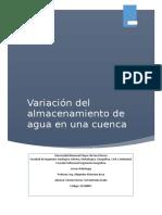 Variación Del Almacenamiento de Agua en Una Cuenca