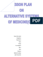 Lesson Plan on Alternative System of Medicine