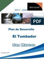 PLAN DE DESARROLLO MUNICIPAL El Tumbador San Marcos Segeplan 2011