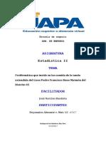 Problemática Que Incide en Las Comida de La Tanda Extendida Del Liceo Pedro Francisco Bono Del Distrito 05