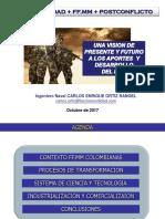 FF.MM. colombianas, post-conflicto y productividad