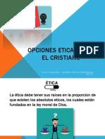 Opciones Eticas Para El Cristiano