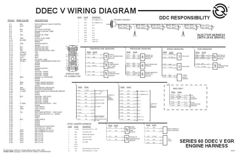 wiring schematic ddec wiring diagram structure DDEC 1 Wiring Diagram