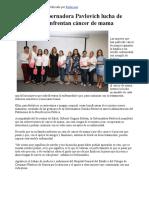 28-10-17 Reconoce Gobernadora Pavlovich lucha de mujeres que enfrentan cáncer de mama. - Canal Sonora