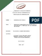 Principales Herramientas de Gestion Para La Organización y Direccion de Las Entidades Del Estado (1)