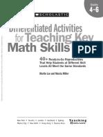 Math Skills Differentiated Activities Grade 4