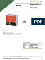 Weidmuller EcoLine Data Sheet