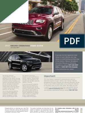 2017 User Guide: Grand Cherokee