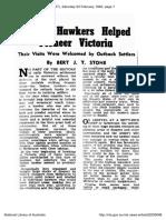 Indian Hawkers Helped Pioneer Victoria
