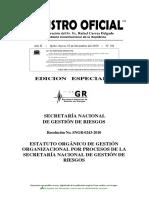 Estatuto Organico de Gestion Organizacional Por Procesos