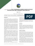 Ocupação Ambiental e Diversidade de Anfíbios Anuros da Estação Ecológica Água Limpa, Cataguases