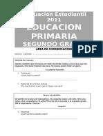 Evaluación Estudiantil 2011 2º Comprensión Lectora
