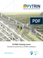 Pvtrin Checklist Practical Tips on Pv Installations En