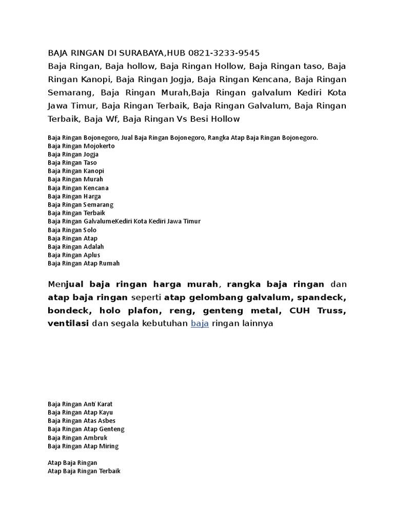 Baja Ringan Di Surabaya Tlp 0821 3233 9545