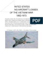 Aircraft Losses of the Vietnam War