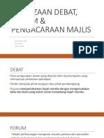 Perbezaan Debat, Forum & Pengacaraan Majlis