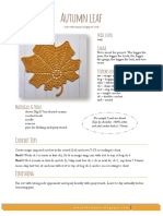 Autumn Leaf Crochet Chart Robootkomania