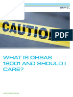 What is OHSAS 18001 DNV Booklet