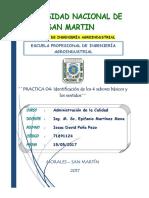 PRACTICA 4- Identificacion de Los 4 Sabores Basicos y Los Sentidos