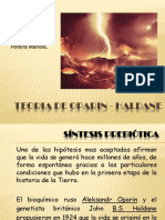 Teoria de Oparin Haldane