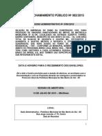 Edital de Chamamento Público Nº 002-2015