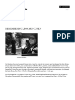 Leonard Cohen Interview