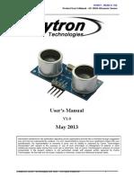 HC-SR04 User Manual