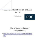 Reading Comprehension and ASD Part 2
